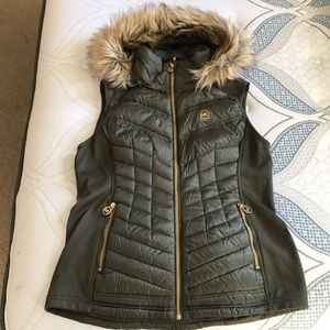 Michael Kors down vest with removable hood